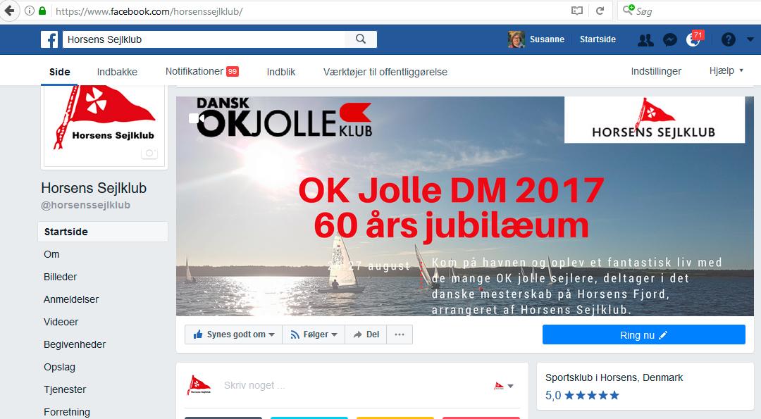 Følg med i OK Jolle DM på facebook