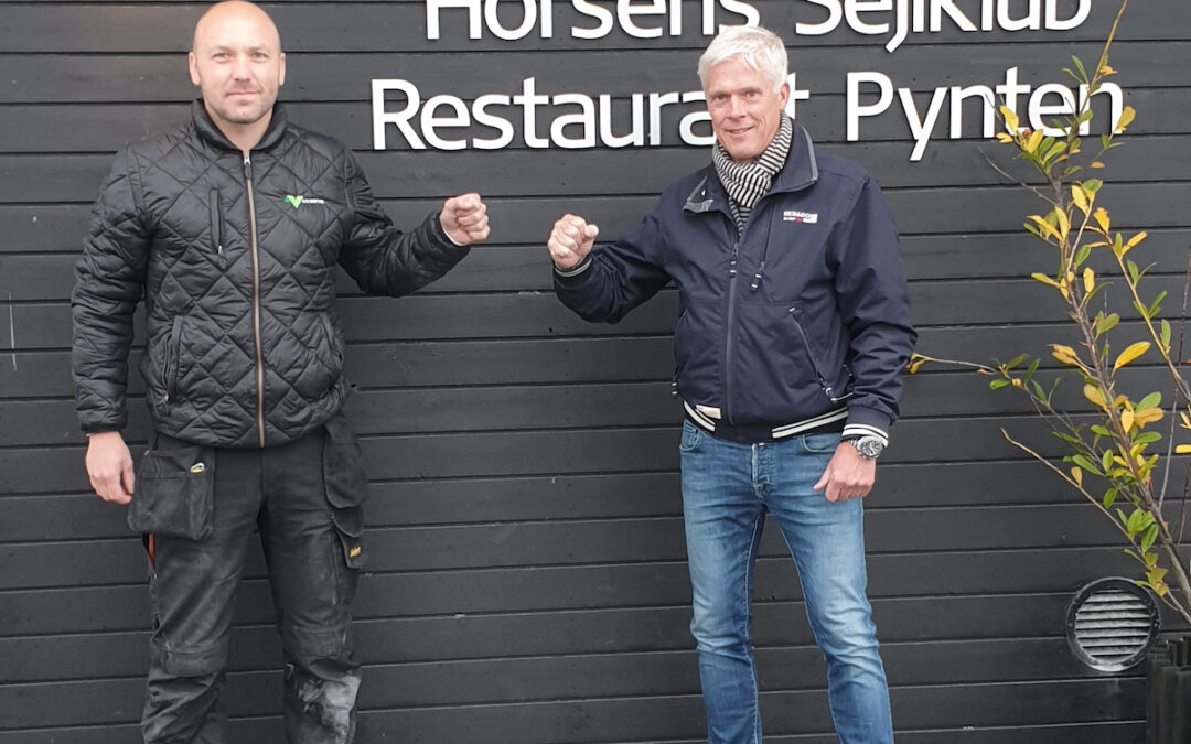 Thomas Nortvig og Peter Bjerremand Jensen foran Horsens Sejlklub