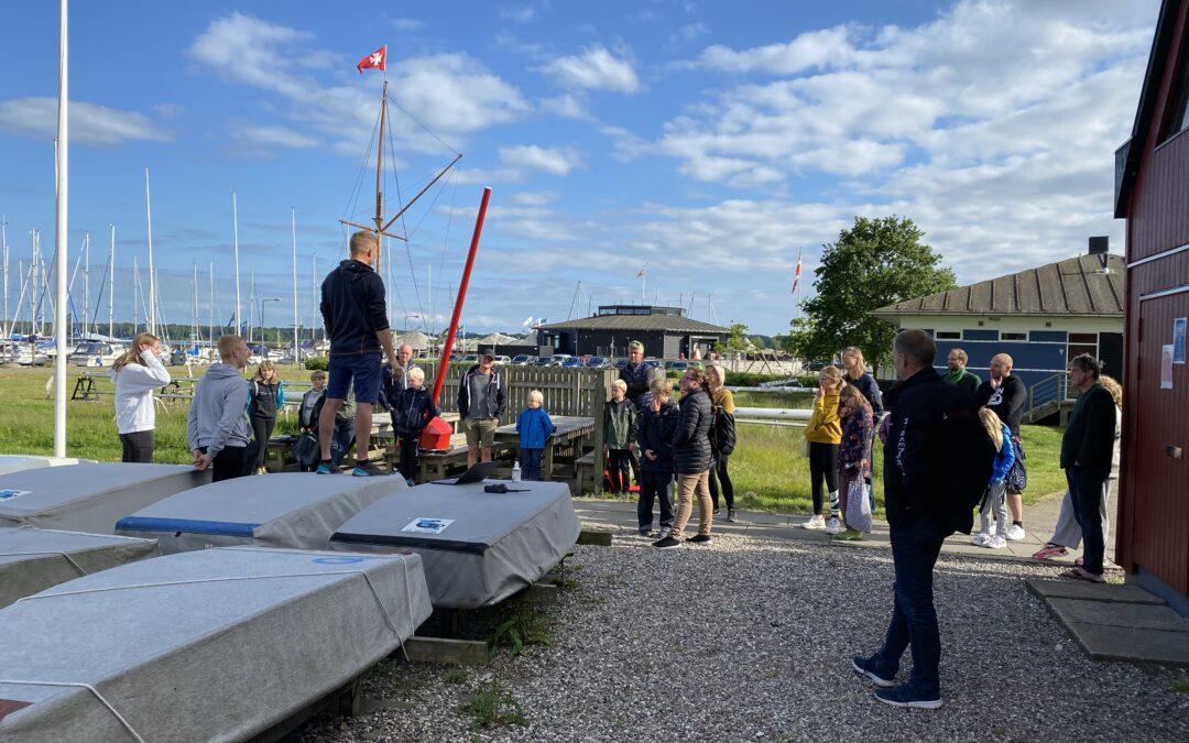 Opstart af nye sejlere i ungdomsafdelingen forår 2020