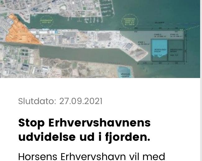 Borgerforslag om udvidelse af Erhvervshavnen